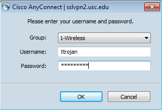 Connecting with Cisco AnyConnect (Windows) | IT Services | USC