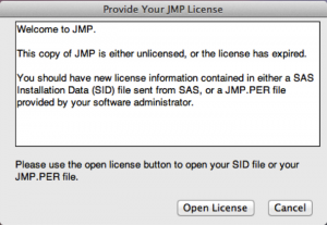 Applying Your JMP License – Mac OS X | IT Services | USC