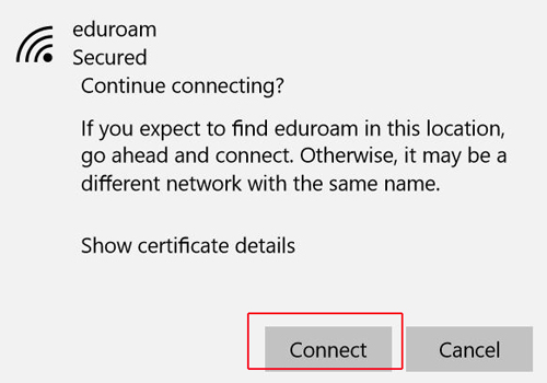 (Eduroam) PC - Connecting to Wireless (Certificate)