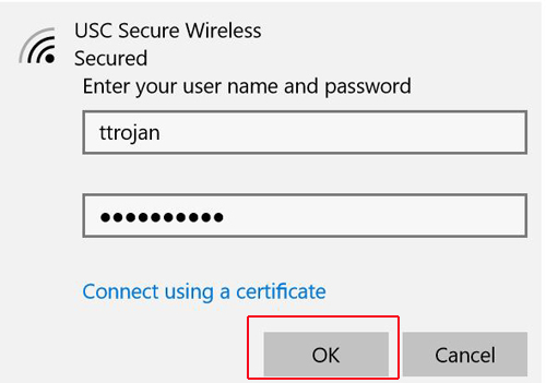 PC - Connecting to Wireless (Credentials)