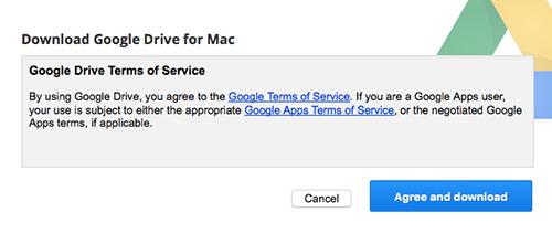 Google Drive Mac Agree