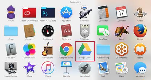 Google Drive Mac Applications
