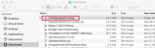 Google Drive Mac Downloads
