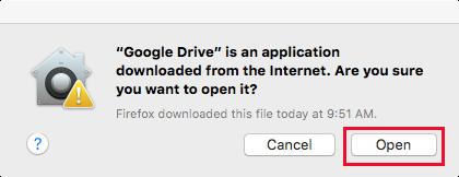 Google Drive Mac Open