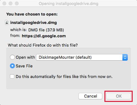 Google Drive Mac Save