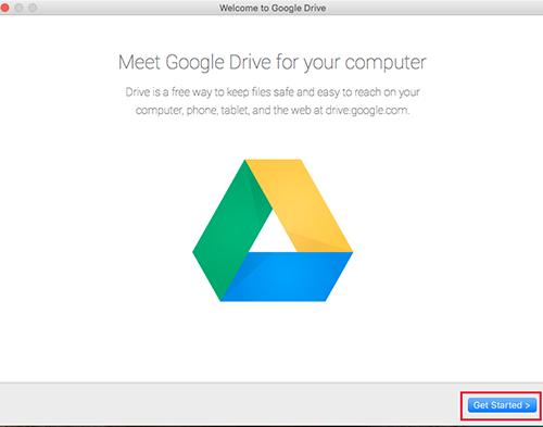 Google Drive Mac Started