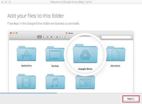 Google Drive Mac Step1