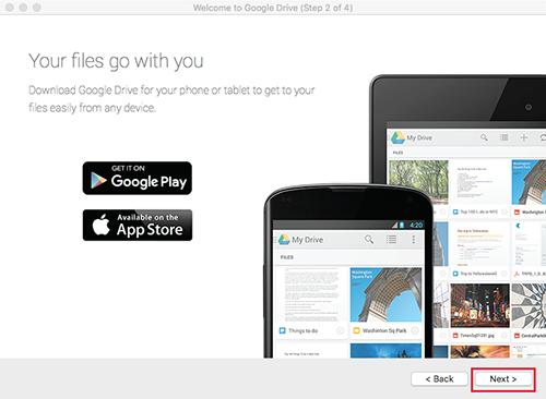 Google Drive Mac Step2