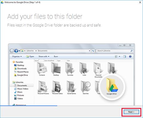 Google Drive Windows Step1