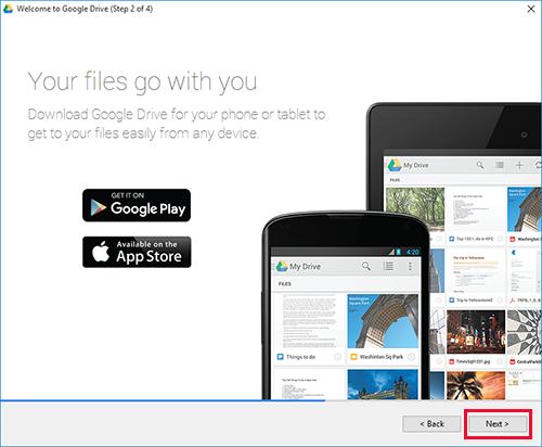 Google Drive Windows Step2