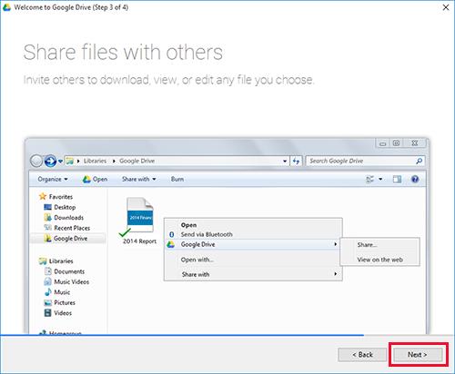 Google Drive Windows Step3
