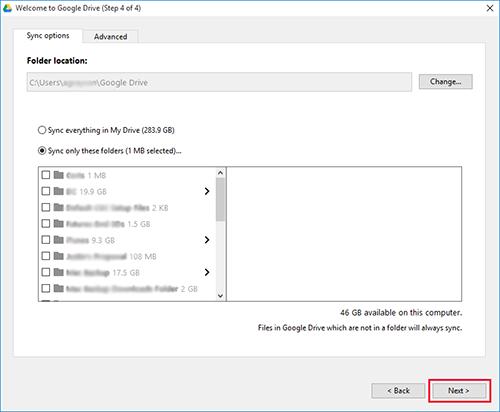 Google Drive Windows Sync