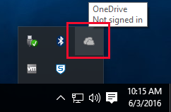OneDrive Windows 10 Click
