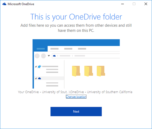 OneDrive Windows Next