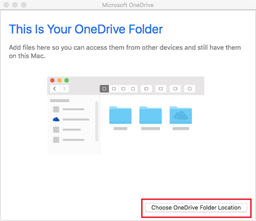OneDriveMac-Choose folder