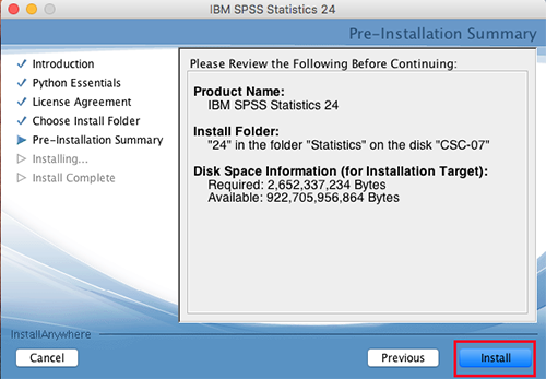 Installing SPSS for Mac OS X | IT Services | USC